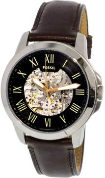 Fossil Men's Grant ME3100 Silver Leather Japanese Automatic Dress Watch