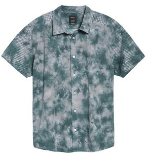 RVCA Men's Tie Dye Check Shirt