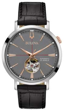 Bulova 98A187 Classic Mens Watch Black 41mm Stainless Steel