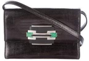 Ralph Lauren Lizard Flap Crossbody Bag