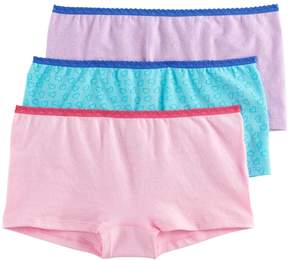 Hanes Girls 6-16 3-pk. Seamless Boyshort Panties