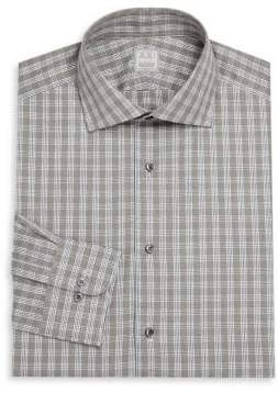 Ike Behar Regular-Fit Lion Check Dress Shirt