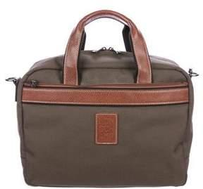 Longchamp Zip Canvas Handle Bag
