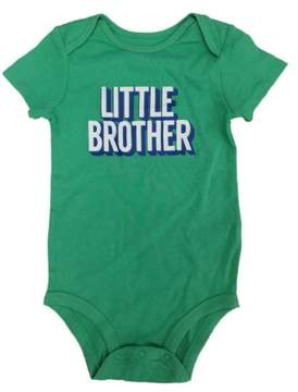 Carter's Baby Clothing Outfit Boys Little Brother Collectible Bodysuit, Green, 24M