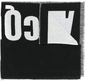 McQ logo knitted scarf
