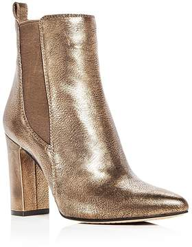 Vince Camuto Women's Britsy Leather High Block Heel Booties
