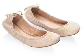 Kate Spade Gwen Palest Leather Ballet Flats