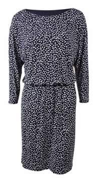 Nine West Women's Polka Dot Blouson Jersey Dress