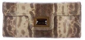 Kara Ross Embellished Lizard Clutch