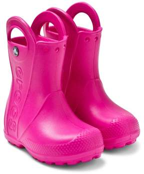 Crocs Pink Handle-it Rain Boot