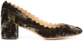 Chloé Lauren block heel pumps