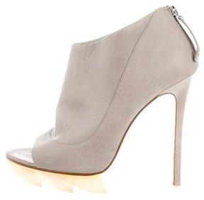 Camilla Skovgaard Peep-Toe Leather Booties