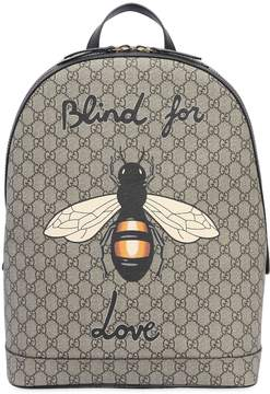 Gucci Bee Printed Gg Supreme Backpack