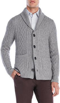 Qi Mixed Cable Knit Cardigan