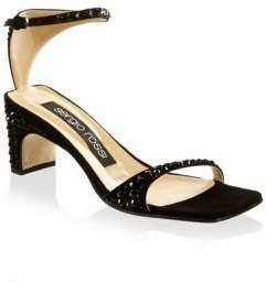 Sergio Rossi Embellished Suede Sandals