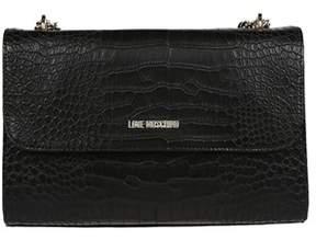Love Moschino Women's Black Leather Shoulder Bag.