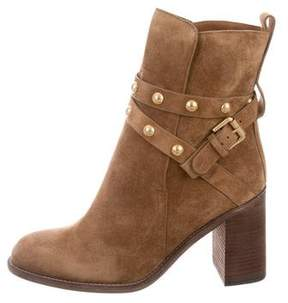 See by Chloe Suede Studded Ankle Boots w/ Tags