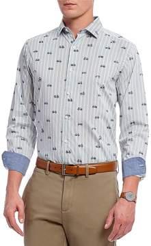 Daniel Cremieux Stripe Print Long-Sleeve Woven Shirt