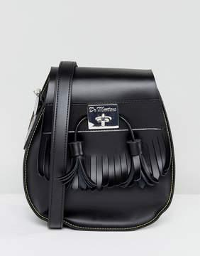 Dr Martens Black Tassel Saddle Bag