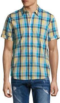 Parke & Ronen Men's Plaid Spread Collar Sportshirt