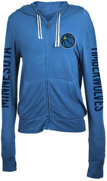 5th & Ocean Women's Minnesota Timberwolves Sweater Knit Full-Zip Hoodie
