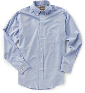 Roundtree & Yorke Gold Label Non-Iron Long-Sleeve Checked Dobby Sportshirt