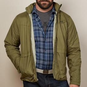 Blade + Blue Olive Green Lightweight Puffer Jacket