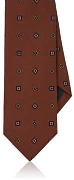 Drakes Drake's Men's Medallion-Print Silk Twill Necktie