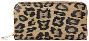 Aspinal of London | Continental Clutch Zip Wallet In Leopard Print | Leopard digital print