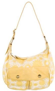 Marc Jacobs Printed Leather Shoulder Bag - WHITE - STYLE