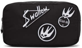 McQ Black Skater Swallow Badge Wash Pouch