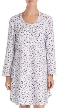 Eileen West Short Floral Cotton Sleepshirt
