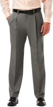 Haggar Big & Tall Cool 18® PRO Wrinkle-Free Pleated Expandable Waist Pants