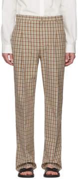 Acne Studios Orange Check Kalnar Suit Trousers