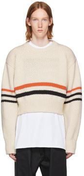 Raf Simons White Americano Sweater
