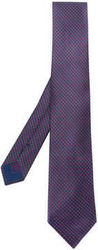 Brioni geometric patterned tie