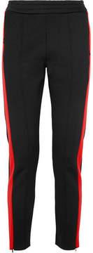 Joseph Two-tone Scuba-jersey Straight-leg Pants - Black