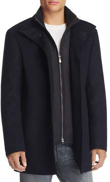 BOSS GREEN Coxtan Layered Wool Blend Coat