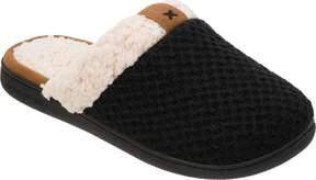 Dearfoams Textured Knit Closed Toe Scuff (Women's)