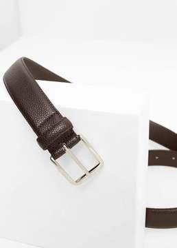 Mango Outlet Pebbled leather belt