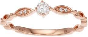 Lauren Conrad 10k Rose Gold 1/8 Carat T.W. Diamond Ring