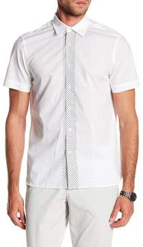 Perry Ellis Dotted Short Sleeve Shirt