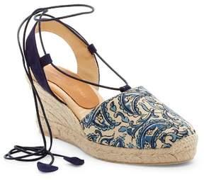 Patricia Green Paisley Espadrille Wedge Sandal