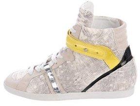 Barbara Bui Embossed High-Top Sneakers