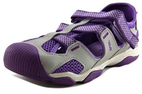 Teva Jansen Youth Round Toe Leather Purple Sport Sandal.