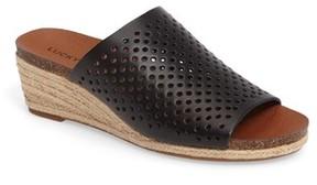 Lucky Brand Women's Jemya Perforated Open Toe Mule