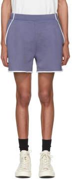 MAISON KITSUNÉ Blue Terry Cotton Shorts
