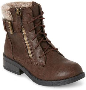Steve Madden Kids Girls) Brown J-Ryan Combat Boots