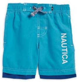 Nautica Boys' Logo-Print Swim Shorts