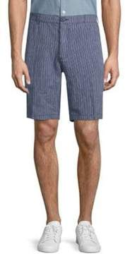 Saks Fifth Avenue BLACK Striped Linen Shorts